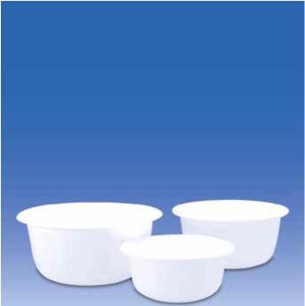Чаши лабораторные из пластика РР Белого цвета