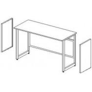 Боковые короба для установки в рамное основание (2шт.) ЛАБ-PRO БККв (к высокому столу)