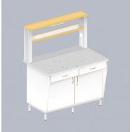 Стол пристенный физический с закрытой тумбой ЛАБ-1200 ПФТ