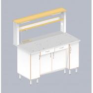 Стол пристенный химический с закрытой тумбой ЛАБ-1500 ПФТМ
