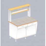 Стол пристенный физический с закрытой тумбой ЛАБ-1200 ПКТ
