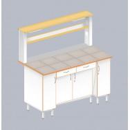 Стол пристенный физический с закрытой тумбой ЛАБ-1500 ПКТ