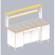 Стол пристенный физический с закрытой тумбой ЛАБ-1800 ПКТ