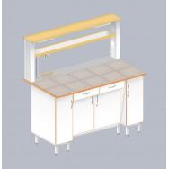 Стол пристенный химический с закрытой тумбой ЛАБ-1500 ПКТМ