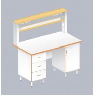 Стол пристенный физический ЛАБ-1500 ПЛ