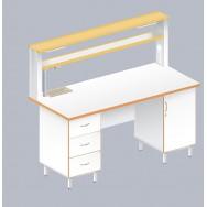 Стол пристенный химический ЛАБ-1800 ПЛМ