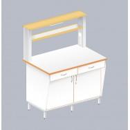 Стол пристенный физический с закрытой тумбой ЛАБ-1200 ПЛТ
