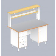 Стол пристенный физический ЛАБ-1500 ПТ