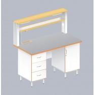 Стол пристенный химический ЛАБ-1500 ПТМ
