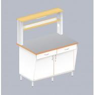 Стол пристенный физический с закрытой тумбой ЛАБ-1200 ПТТ