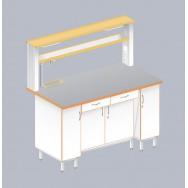 Стол пристенный химический с закрытой тумбой ЛАБ-1500 ПТТМ