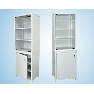 Шкаф для документов 600 ШД-М (верх. дверца - стекло, низ - металл)