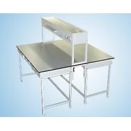Стол островной физический (со стеллажом, без воды) 1200 СОФл-М (ламинат, с ящиками и розетками)