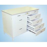 Стол-тумба 1200 СТЛдб-М с ящиками/розетками (5+5) (Durcon с бортиком)