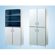 Шкаф лабораторный 800 ШП (для посуды, полки и ниж. дверцы - меламин, верх стекло)