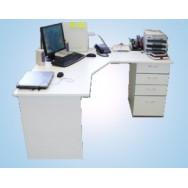 Стол компьютерный 1200СКл (ламинат 28 мм, с полкой под клав. и подст. под сис.блок)