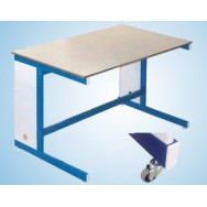 Стол мобильный увеличенной глубины 1200/750 СЛМл-У (ламинат)