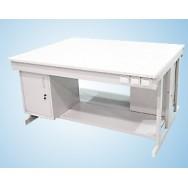 Стол для хроматографа (усиленный) 1500/900СЛВХл-ТД-М (ламинат, с тумбой и полкой)