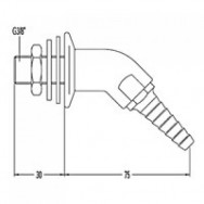 Выпускной патрубок для вакуума и выносной вентиль 15324-2/15310-0
