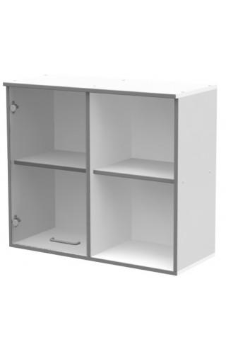 ЛАБ-М НШС-1 80.35.70 Шкаф хранения навесной с 1 стеклянной дверкой и открытым правым отделением