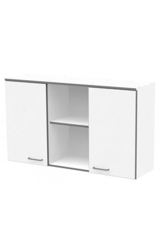 ЛАБ-М НШ 120.35.70 Шкаф хранения навесной с 2 дверками из меламина и открытым центральным отделением