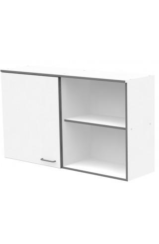 ЛАБ-М НШ-1 120.35.70 Шкаф хранения навесной с 1 дверкой из меламина и открытым правым отделением