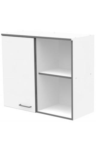 ЛАБ-М НШ-1 80.35.70  Шкаф хранения навесной с 1 дверкой из меламина и открытым правым отделением